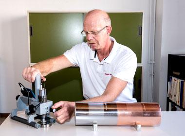 Kalibrierung eines Zylinders - Graphische Technik und Handel Heimann GmbH, Pferdekamp 9, 59075 Hamm